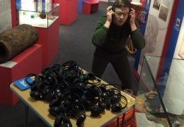 James from Roundhouse Radio with sound installation